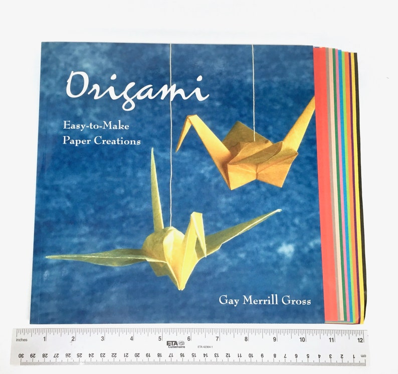 1 Sheet Of Paper Folded Artwork To Learn The Basics Of Folding Simple Origami Encyclopedia Guide Books United Manual Origami Book Books