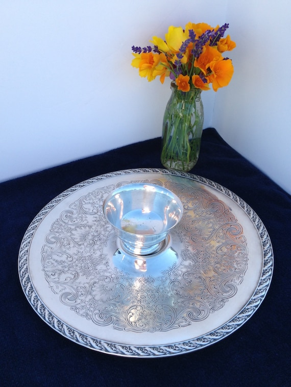 Wm rogers son silver tray is a spring flower 12 etsy image 0 mightylinksfo