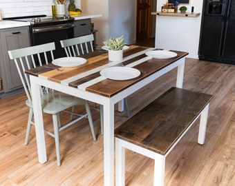 Kitchen Table And Chairs Etsy