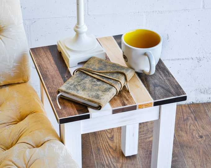 Farmhouse Side Table | Stool | Small End Table | Short Side Table | Multipurpose Table