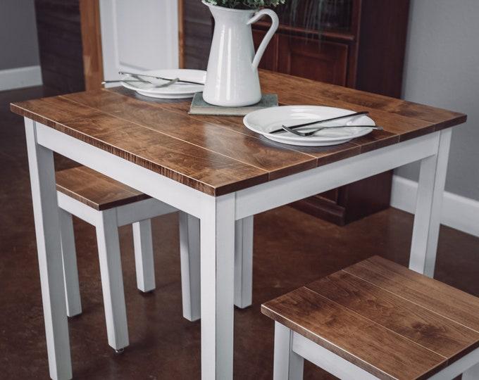 Square Farmhouse Breakfast Table Set