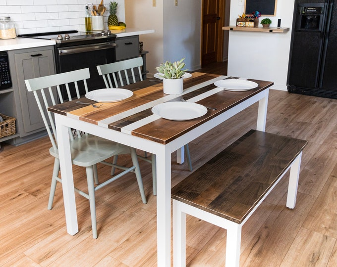 Small Dining Set | Farmhouse Dining Table Set | Small Dining Table | Kitchen Table | Dining Set | Small Kitchen Table