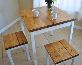 Farmhouse Breakfast Table or Dining Table Set with or without Stools -  Farmhouse Table 7908c71d1