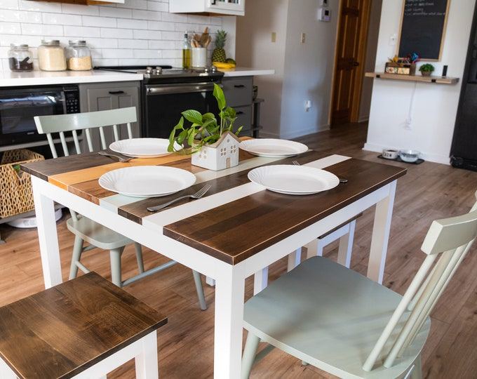 Square Dining Table | Farmhouse Breakfast Table | Kitchen Table | Small Dining Table | Small Kitchen Table | Square Table