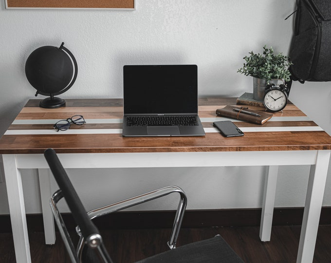 Farmhouse Desk or Table - Laptop Desk - Wood Table