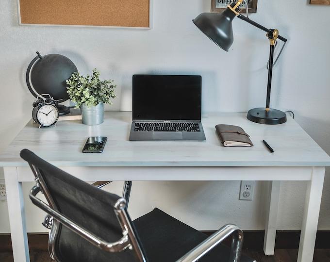Bleach Blue Solid Maple Desk