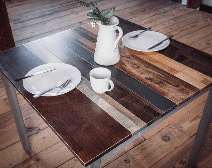 Classic Grey Multicolored Farmhouse Table