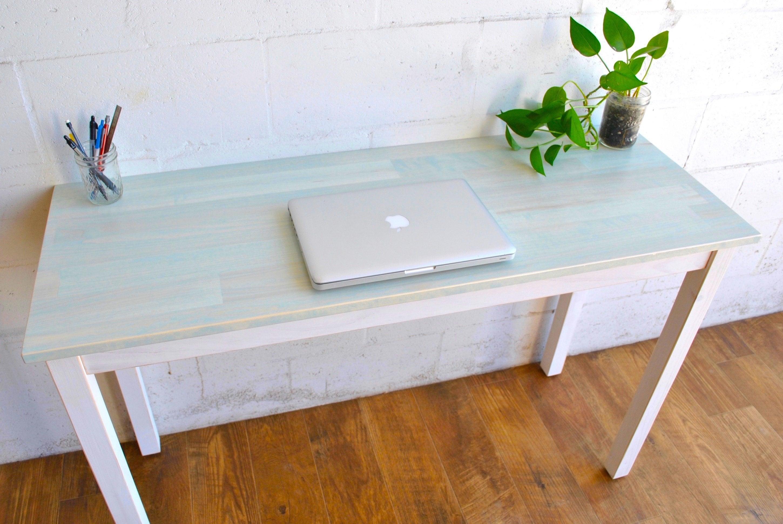 Super Made To Order Light Blue Desk Laptop Desk Wood Desk Download Free Architecture Designs Xoliawazosbritishbridgeorg