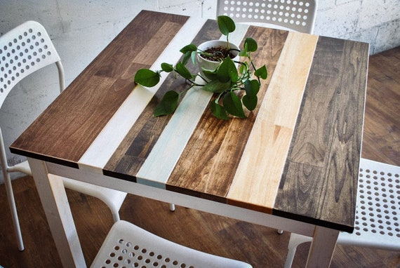 Square Dining Table Farmhouse Breakfast Table Kitchen Etsy