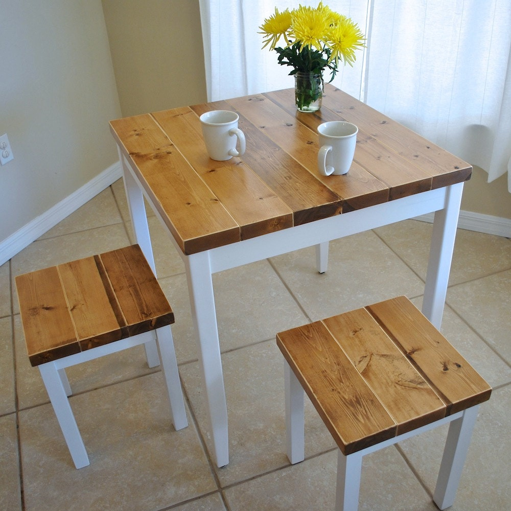Bon Farmhouse Breakfast Table Or Dining Table Set With Or Without Stools    Farmhouse Table