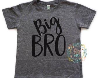 Big Bro tshirt big bro tshirt, little boy big brother shirt, pregnancy announcement big brother t shirt, I'm a big brother, new baby