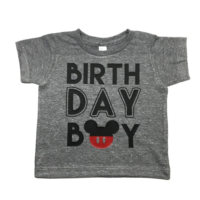 Baby Boy Birthday Shirt Mouse For Any