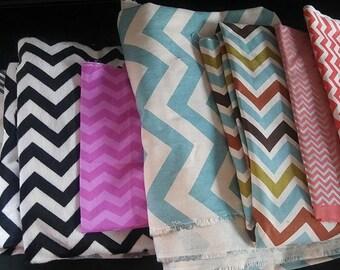 Large fabric scraps bundle, designer fabric, discontinued fabric, tula fabric, fabric scraps, chevron fabric, zig zag fabric, blue zz tula