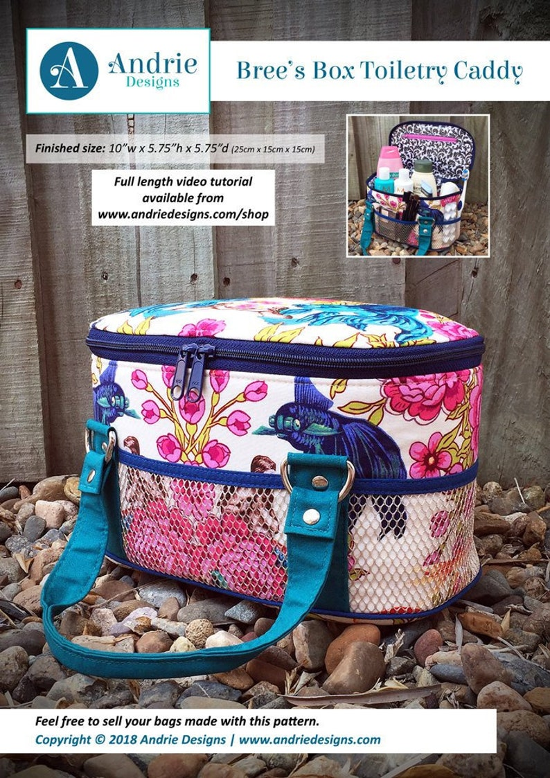 Toiletry bag pattern, Bree's Box Toiletry Caddy, toilet bag, toiletry  caddy, toiletry caddy pattern, lunch bag, sewing bag, makeup bag