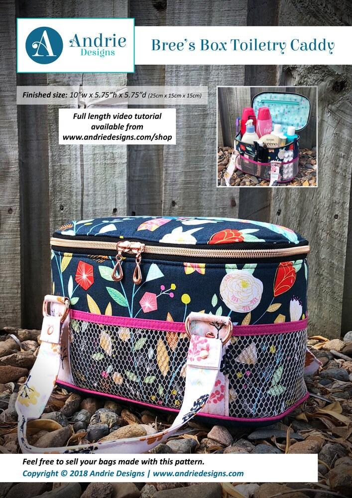 Toiletry bag pattern Bree\'s Box Toiletry Caddy toilet | Etsy