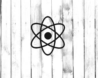 Atom Symbol CarTruckHomeLaptopComputerPhoneSchool Decal
