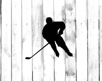 Hockey Player Etsy