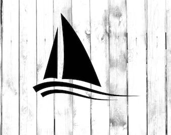 Size - Color 20 Inch // 50 cm Tall Matte White GottaLoveStickerz Sailboat Sailing Sailor Sail Ocean Removable Vinyl Decal Sticker for Laptop Tablet Helmet Windows Wall Decor Car Truck Motorcycle