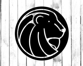 14641104966 Lion Head Circle - Di Cut Decal - Yeti/Tumbler/Water  Bottle/Home/Laptop/Computer/Truck/Car Bumper Sticker Decal