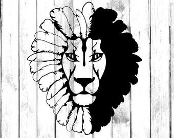 2bde948a238 Lion Head with Leaf Mane - Di Cut Decal - Yeti/Tumbler/Water  Bottle/Car/Truck/Home/Laptop/Computer/Yeti/Tumbler/Macbook/Phone Decal