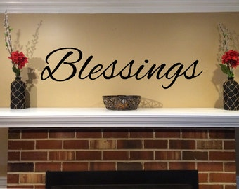 Blessings - Home Decor Wall Decal - Car/Truck/Home/Phone/Laptop/Computer Decal