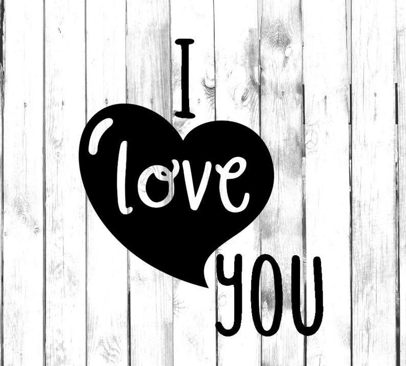 YetiTumblerWater BottleCarTruckHomeLaptopComputerYetiTumblerMacbookPhone Decal I Love You Heart Di Cut Decal