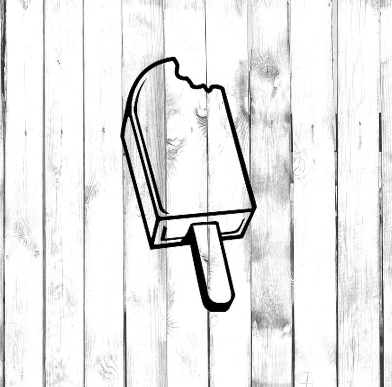 Bitten Popsicle Di Cut Decal Popsicle Decal HomeLaptopComputerTruckCar Bumper Sticker Decal