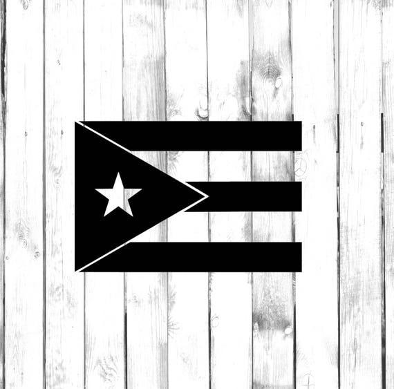 "Puerto Rico Batman Flag Vinyl Car Laptop Sticker Decal 4/"""