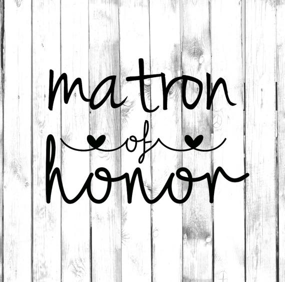 Matron of Honor Vinyl Decal Matron of Honor Tumbler Decal Tumbler Vinyl Decal MOH Vinyl Decal