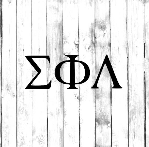 Greek Letter Decals Fraternitysorority Symbols Cost Is For Etsy
