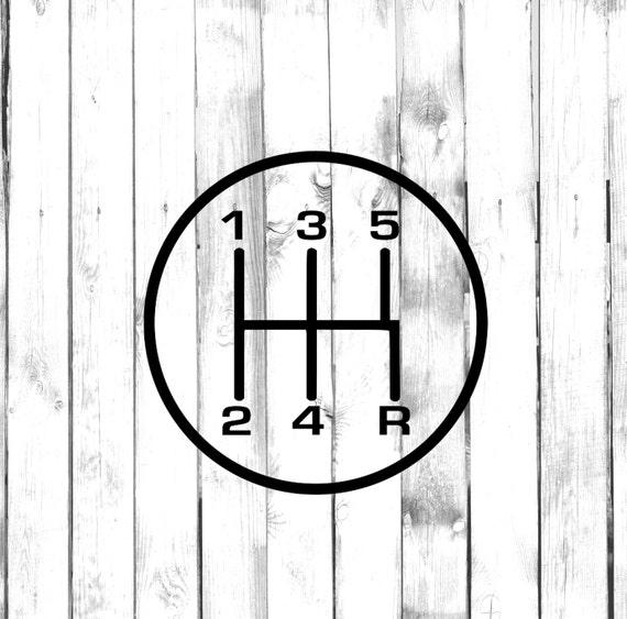 5 speed gear stick shift manual car gear shift diagram rh etsy com Driving Stick Shift Stick Shift Transmission