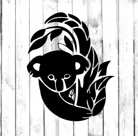3/'/' 5/'/' or 6/'/' Watercolor Koala Car Bumper Sticker Decal