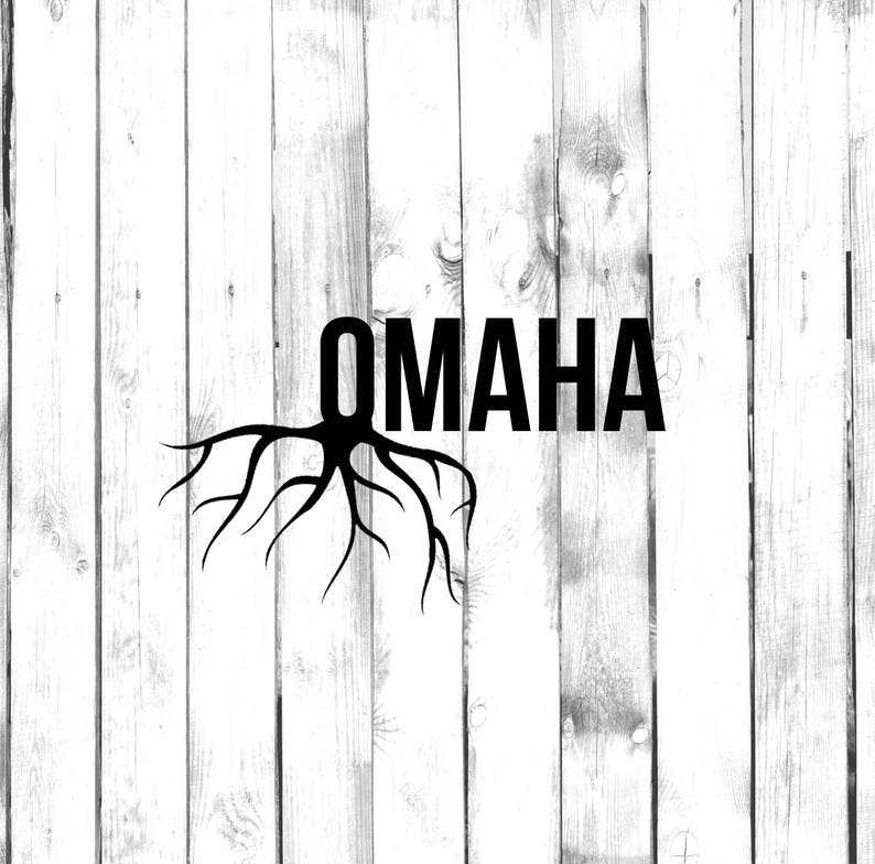 Di Cut Decal Homegrown CarTruckHomeLaptopComputerYetiTumblerMacbookPhone Decal Omaha Roots
