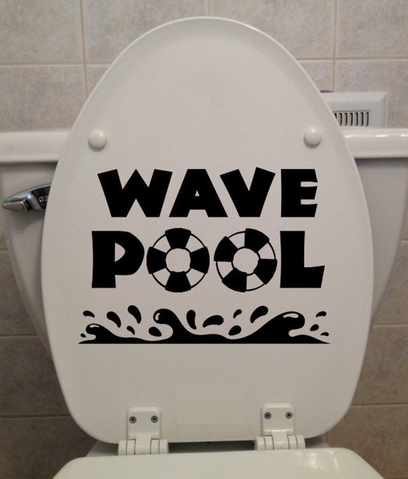 Pleasing Wave Pool Toilet Seat Sticker Car Truck Home Computer Bathroom Decal Bralicious Painted Fabric Chair Ideas Braliciousco