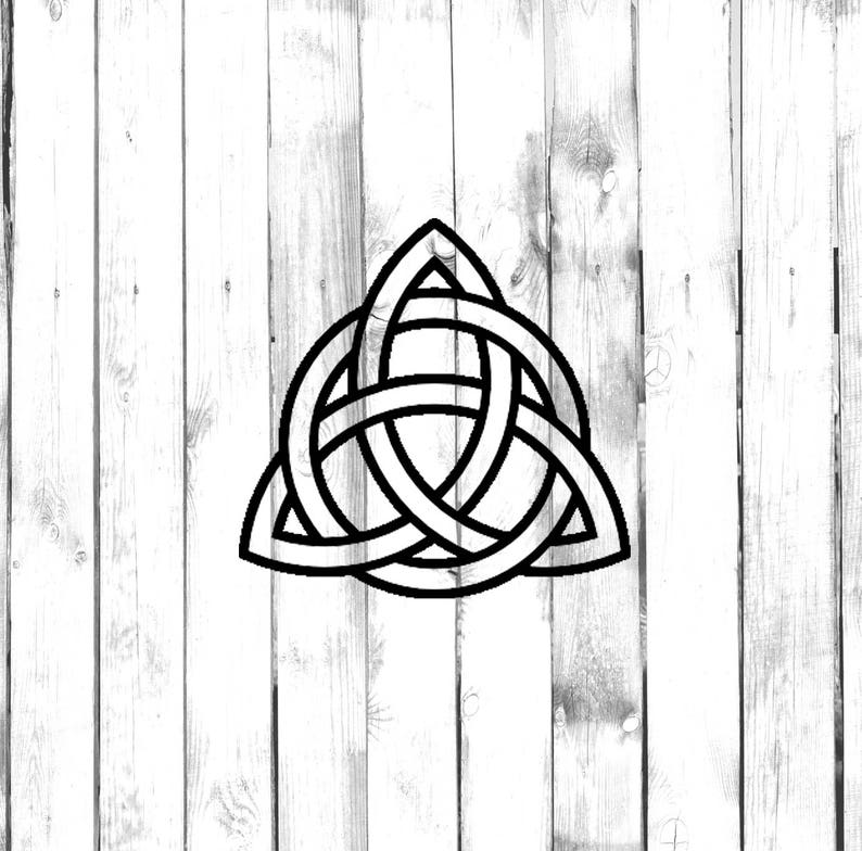 Triquetra Tattoo Design Tribal Element Di Cut Decal
