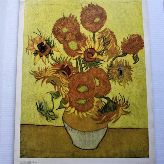 Vincent Van Gogh Sunflowers 1888 Vintage Print