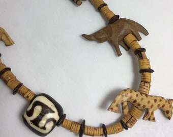 Multi Animal Necklace 26 Inch