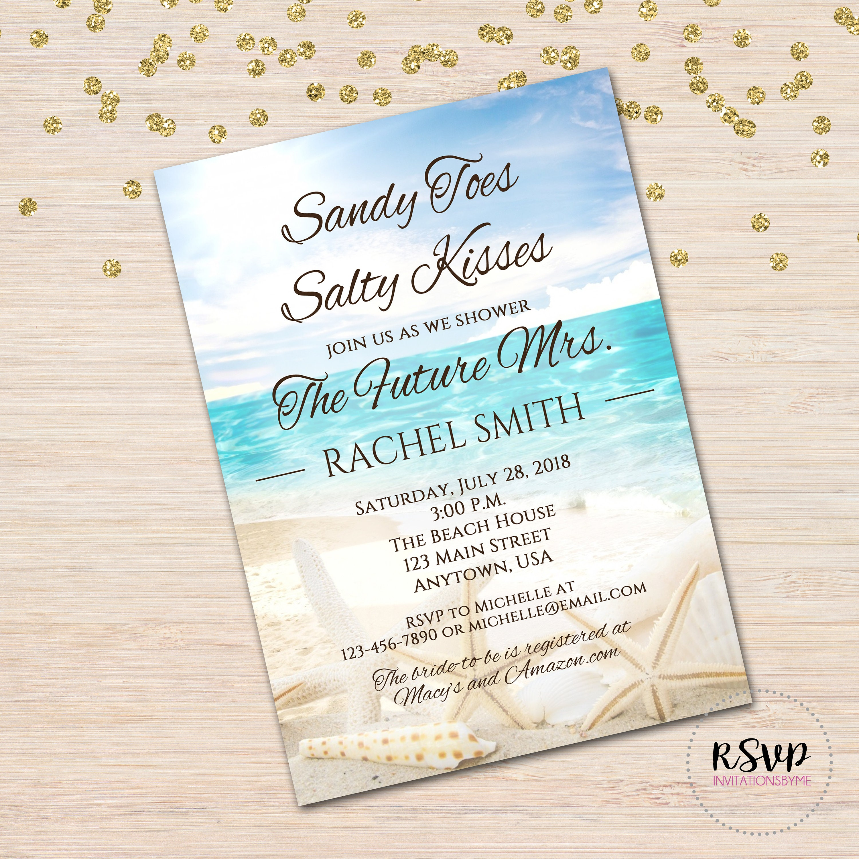 Beach Theme Sandy Toes Sweet 16 Anniversary Birthday | Etsy