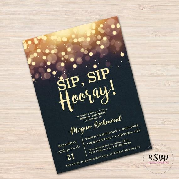 Sip Sip Hooray Invitation