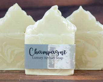 Champagne Soap - Artisan Soap - Event Favors - Luxury Bar Soap - Body Cleanser - Organic Soap - Natural Soap - Wedding Soap - CP Soap