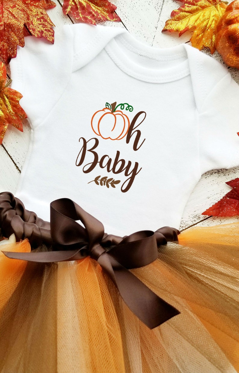 Thanksgiving Baby Onesie-First Thanksgiving Baby Girl Outfit-Thanksgiving Tutu-Fall Pumpkin Onesie Outfit-Fall Baby-Baby Shower Gift