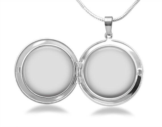 digital template memory locket necklace 25 mm setting pendant etsy