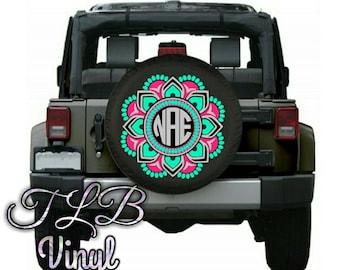 Laurels Monogram jeep tire cover