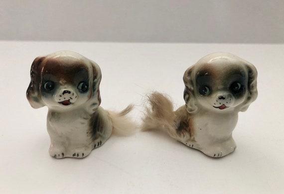 Vintage Puppies Salt and Pepper 1940s