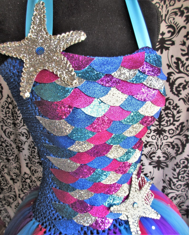 Adult Rainbow Fish DressRainbow Fish CostumeBlue Mermaid DressAdult Mermaid Scale TutuMermaid CostumeMardi Gras DressWomen/'s Dresses