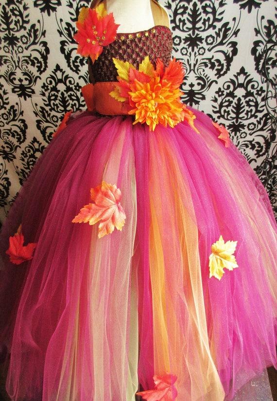 Autumn Theme Dressfall Wedding Dressautumn Colors Etsy