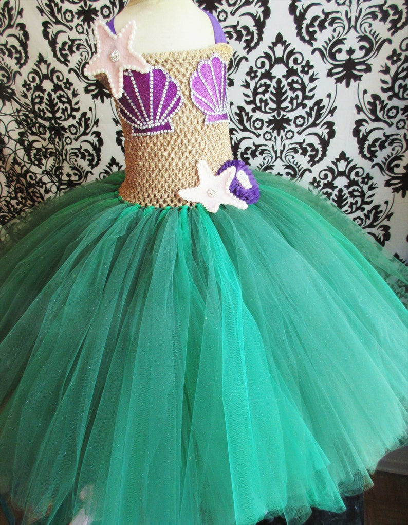 Little Mermaid Costume Little Mermaid Dress Halloween Costume Mermaid Party Mermaid  Dress Under the sea party Girls  Dresses Baby Girl Dress 1ca7f3d51