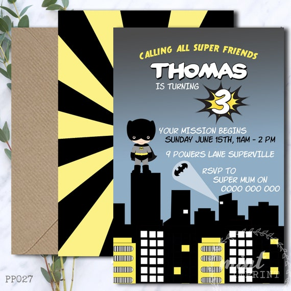 picture about Printable Batman Invitations known as Batman Invitation / Batman Printable/ Batman Birthday
