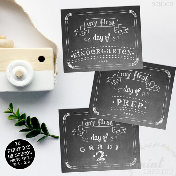 photo regarding Printable Chalkboard Signs referred to as To start with Working day of University Indicators Printable Chalkboard Indicators Prompt Down load  Kindergarden - Quality 12