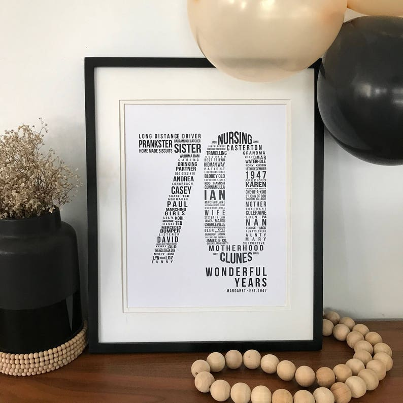 70th Birthday Gift For Parents Him Her Dad Mum Personalised